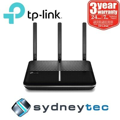 New AU TP-Link Archer VR600v AC1600 Wireless Gigabit VoIP VDSL/ADSL Modem Router