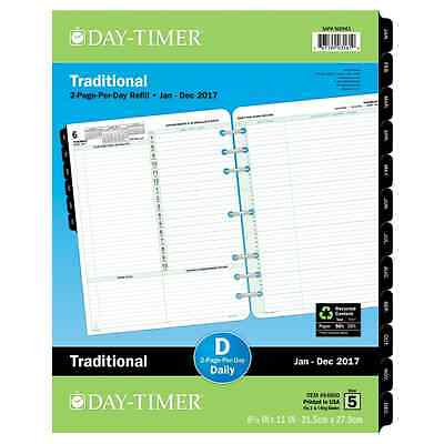 Day-Timer Daily Reference Planner Refill 2017, Two Page Per Day, Traditional, Fo