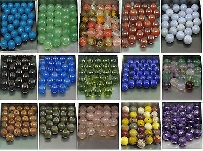 Natural Gemstone Round Spacer Loose Beads SIZE CHOICE Lot