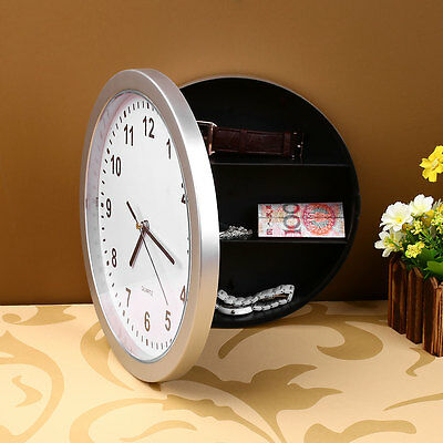 Creative Hidden Secret Wall Clock Safe Money Stash Stuff Container Box