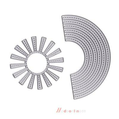 Sunshine Rainbow Metal Cutting Die Stencil Embossing for Scrapbooking Card Decor
