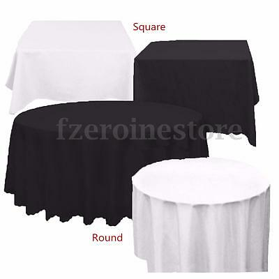 White Black PE Tablecloth Table Cover Cloth Wipe Clean Banquet Wedding Party