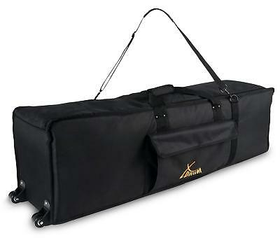 Drum Hardware Trolley Case Bag Transport Gigbag Padded Wheeled With Strap Black