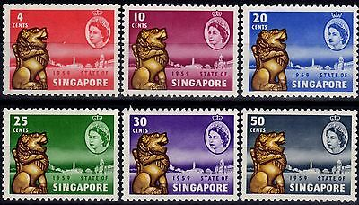 Singapore 1959 New Constitution set of 6 SG53-58 V.F MNH