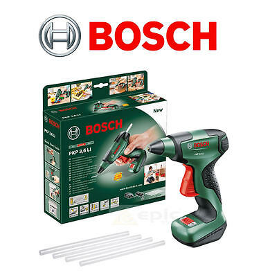 Bosch CORDLESS Battery Craft Hot Melt Glue/Adhesive Stick Trigger Gun PKP3,6LI