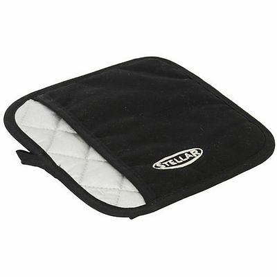 Stellar Pot Holder Machine Wash Polyester Padded Thermal Resistant 20cm Black