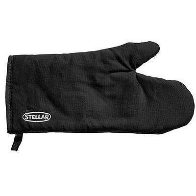 Stellar Oven Glove Hanging Loop Machine Washable Thermally Resistant Black 31cm