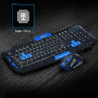 1 Set 2.4G Wireless Gaming Keyboard and Mouse Set PC Computer Multimedia Gamer