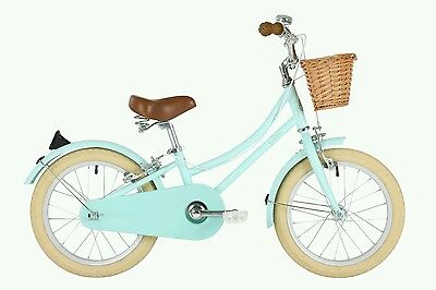 "Bobbin Gingersnap 16"" Wheel - Mint Green- Vintage childrens dutch style bicycle"