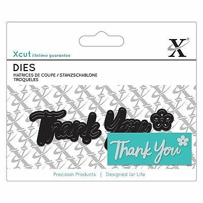 Docrafts X-Cut Mini Sentiment Die - Thank You Die Cutting Papercrafting