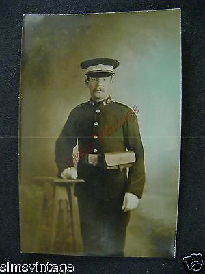 Military B Postcard Military Soldier or Policeman ? Colour  0104