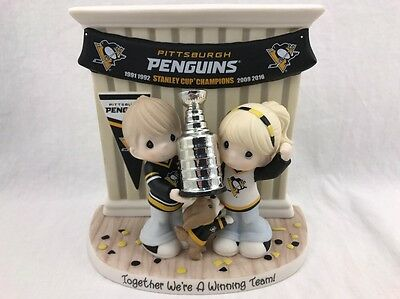 Officially-Licensed Pittsburgh Penguins Precious Moments Stanley CupPorcelain Fi