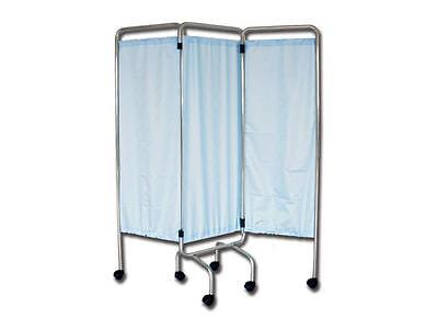 Smokescreen Hospital 3 Sections Wheels Curtains Flame Retardant Trevira 150X170