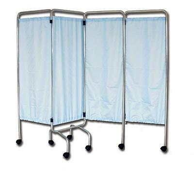 Smokescreen Hospitals 4 Sections Wheels Curtains Trevira Flame Retardant 200X170
