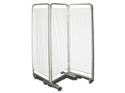 Hospital Folding Screen Three-Section Aluminum Frame White Curtains Cm. 60X60X60