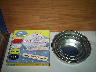 Vintage Tala Four Tier Cake Set No. 1020 & Original Box : Home Cook's Delight