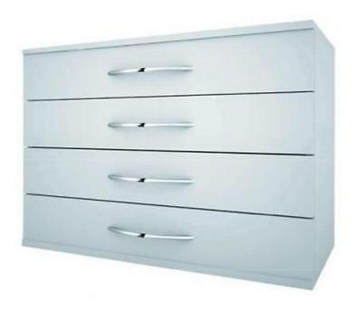 Stackable Drawers With Four Silver Gray Drawers Cm. 92X45X63,5H