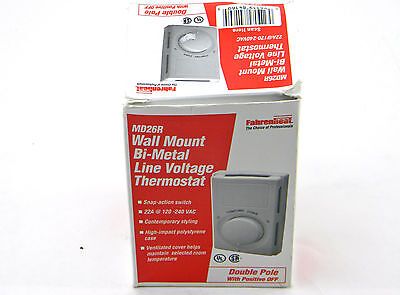 New Fahrenheat MD26R Double Pole Non-Programmable Wall-Mount Bi-Metal Thermostat
