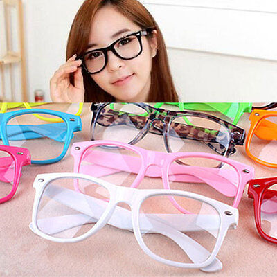 Unisex Clear Lense Cool Fashion Nerd Geek Glasses Eyewear For Men Womens Retro