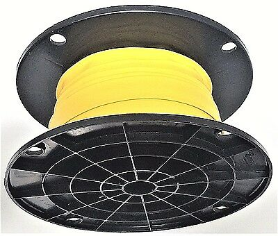 "100' Feet YELLOW 3/8"" Polyolefin 2:1 Ratio Heat Shrink Tubing on a SPOOL"