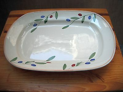 Caleca Hand Painted Large Buffet Serving Platter Made in Italy-OLIVELLA 722