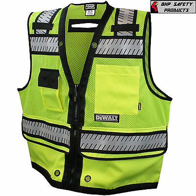 Dewalt Safety Vest Class 2 Heavy Duty Surveyor Vest Dsv521 Road Construction