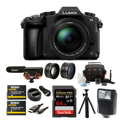 Panasonic LUMIX DMC-G85MK 4K Mirrorless Camera Kit,12-60mm Lens + VideoMic Go