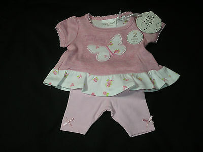 Premature Baby Girl Clothes Tiny Dress leggings Pink Floral New 5lbs 8lbs