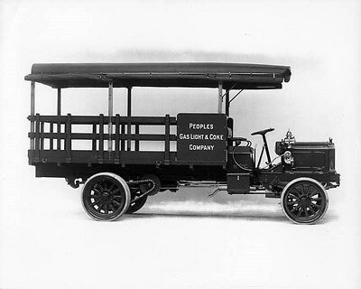1910 Packard  Stake Bed Truck ORIGINAL Factory Glass Negative oad9230