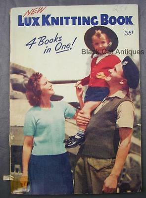 Original Vintage 1942 New Lux Knitting Book (Four Books in One) 112 Pages