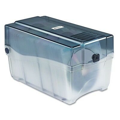 Innovera CD/DVD Storage Case with Hinged Lid & Key Lock Holds 150 Discs - 39502