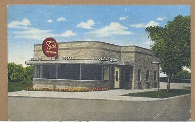c1940s Teds Ice Cream Frozen Custard Shop Milwaukee WI PC