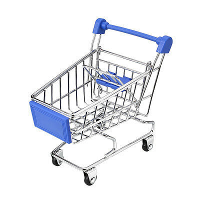 Mini Shopping Cart Supermarket Handcart Utility Four wheels Mode Kids Toy