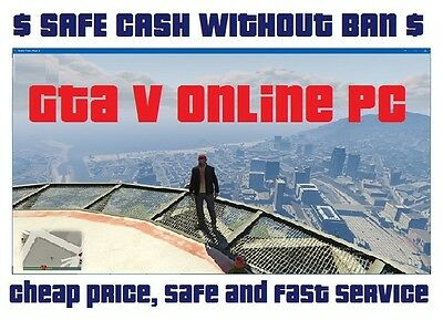Time and work devoted to Acquiring 90.000.000$ GTA 5 V PC ONLINE CASH Money $$$