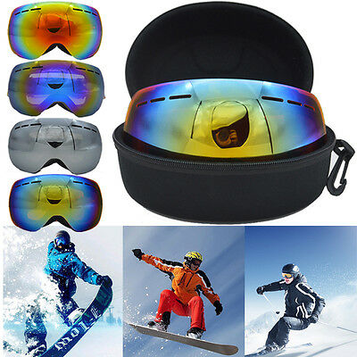 Professional Double Lens UV Anti-fog Big Spherical Skiing Glass Snowboard Goggle