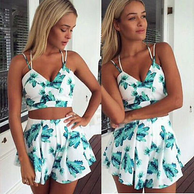 US Women Ladies Flora Clubwear Playsuit Bodycon Party Jumpsuit&Romper Trousers
