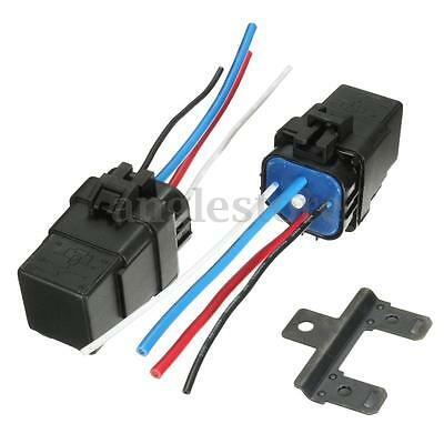 2x Waterproof Integrated Automobile Relay 12V DC 40A 4PIN AUTO CAR RELAY Socket