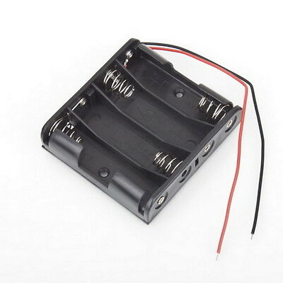 Battery Box Slot Holder Case for 4 Packs Standard AA 2A Batteries Stack 6V O6