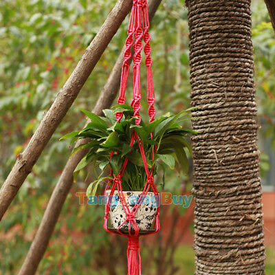 Pot Holder Hanging Basket Handcrafted Braided Macrame Cord Rope Plant Hanger