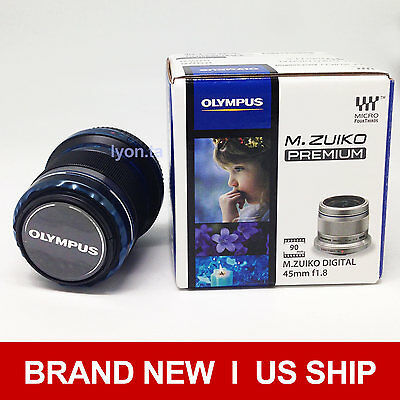 New Olympus M. Zuiko Digital ED 45mm f1.8 (Black) Lens For Micro 4/3 Cameras