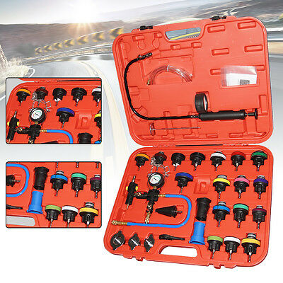 28PC Cooling System Radiator Pressure Tester Kit w/ Coolant Purge/Refill Adapter