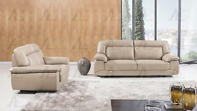 American Eagle EK072 TAN Sofa And Loveseat Set Italian Leather 2Pcs