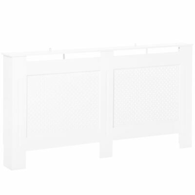 Radiator Cover Solid MDF White Painted Wood Assembly Home Design Furniture Large