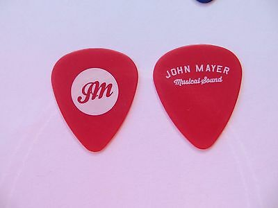 Authentic -- John Mayer -- Musical Sound -- Guitar Pick -- Red -- 2015