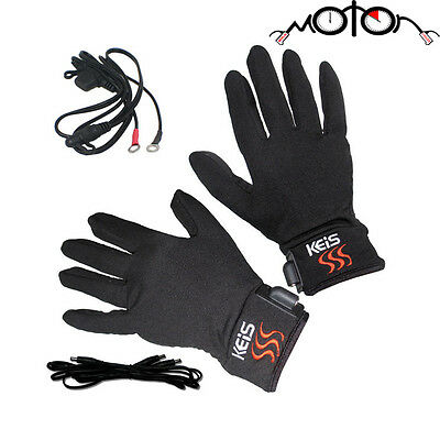 Keis X200 HEATED INNER GLOVES 12v or Battery Motorcycle/Skiing/Hiking/Fishing