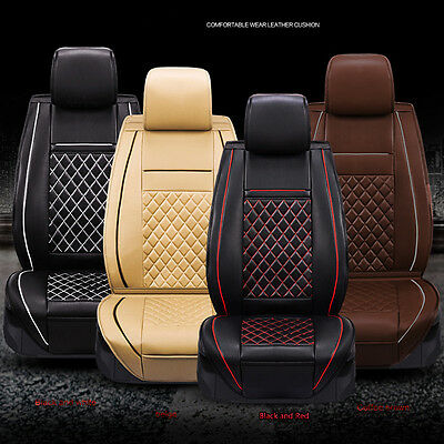 High Quality Luxury Soft PU Leather Car Seat Covers Breathable Full Set Cover