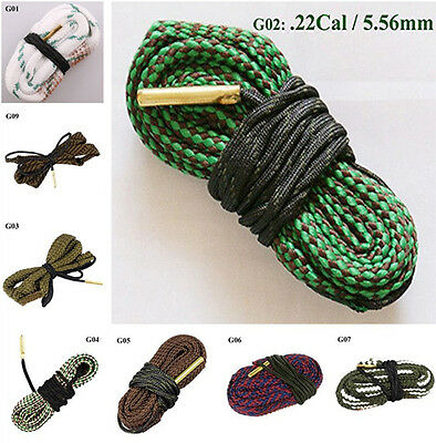 New Durable Bore Rope Clean Snake Calibre Rifle Barrel Cleaner Multi-type