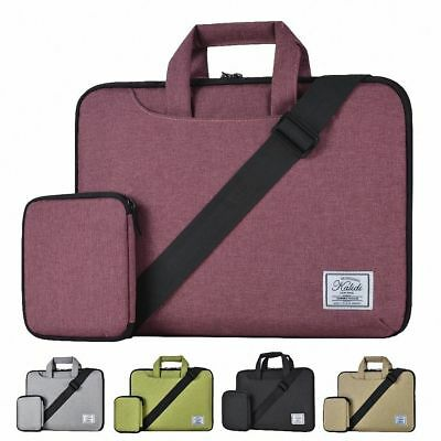 KALIDI 13'' Shoulder Carry Messenger Bag For 12-14 Inch Laptop MacBook Air Gray