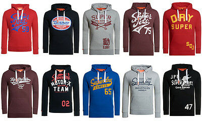 New Mens Superdry Hoodies Selection. Various Styles & Colours