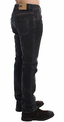 IT48 NEW $180 ACHT Jeans Blue Cotton Regular Straight Fit Trousers s W34